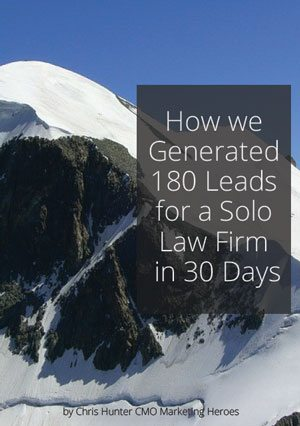 How we generated 180 Leads for a Solo Law Firm in 30 Days