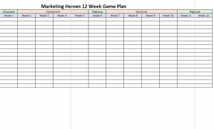 12 Week Game Plan